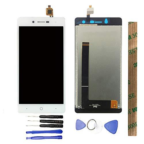 JayTong - visualización LCD y digitalizador de visualización táctil de Repuesto para ZTE Blade L7 Global 3G Blanco
