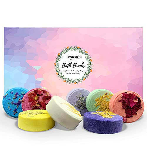 Shower Steamers Aromatherapy Christmas Gifts for Women - Imazing Bath Bombs Set of 8 with Essential Oils, Unique Stress Relief & Relaxation Gifts for Her Women Wife Mom Sister Girls Couples