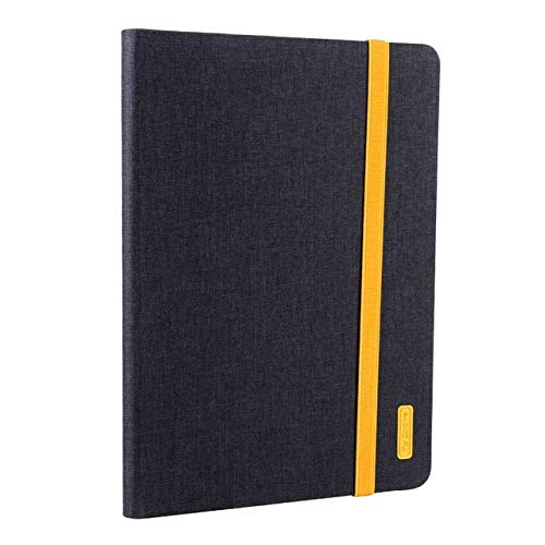 QiuKui Tab Cover For iPad 9.7 2017 2018 5th 6th, Generation Cover Tablet Silicon PU Leather Shell Case For iPad air 2 Pro 9.7' (Color : Black)