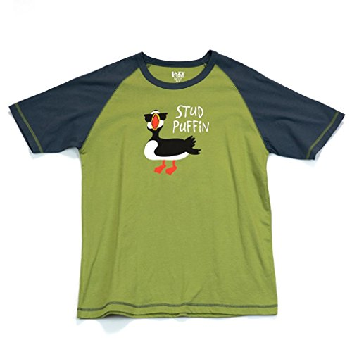 Stud Puffin Men's Pajama Shirt TOP by LazyOne | Pajama TOP for Men (X-LARGE)