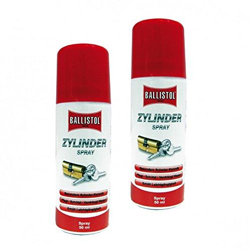 BALLISTOL Keramik-Zylinderspray 2 Spraydosen a 50 ml Pflegespray f. Schlösser 25941