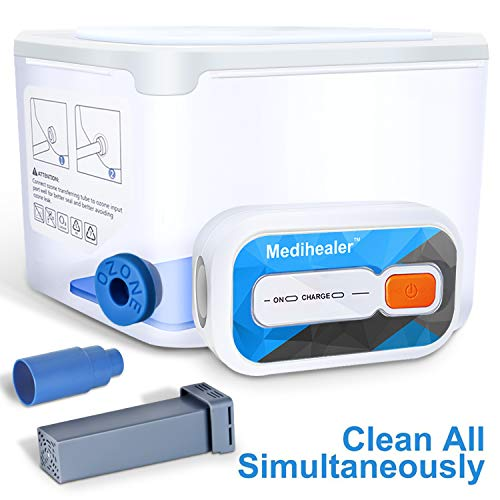 CPAP Cleaner and Sanitizer, Cleaner and Sanitizing Machine - Cleanning Standard Hose/Heated Tube, Mask & Machine Simultaneously, Portable Cleaner and Sanitizer Bundle Supplies by Medihealer