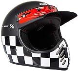 BELL MOTO-3 FASTHOUSE CHECKERS HELMET M/G BLACK/WHITE/RED S