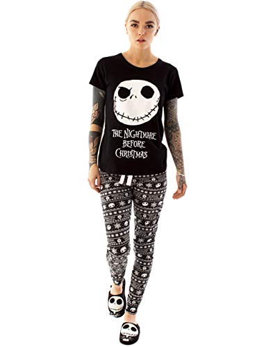 Nightmare Before Christmas Pyjama Jack Skellington Damen PJ Top Hosen Set