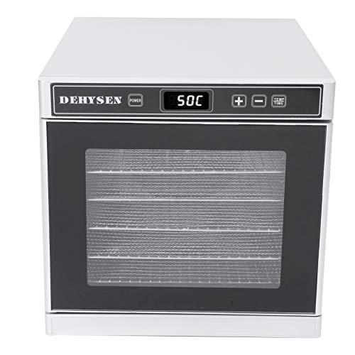 Suministros de cocina, 6 bandejas, secadora de alimentos plateada, temperatura ajustable, eficiente, secador de alimentos eléctrico, para secar(European regulations)