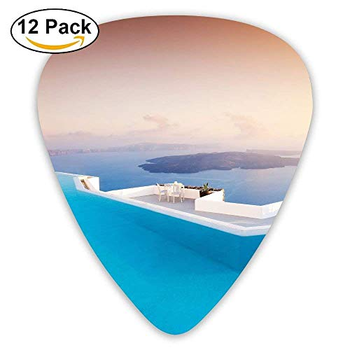 Rooftop Swimming Pool Classic Guitar Pick (12 Pack) for Electric Guita Bass