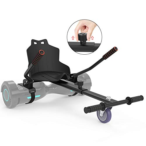 Leogreen Sitzscooter Kart Sitz, Self Balancing hovercart go Cart Hoverkart Sitz kompatibel mit 6,5-10 Zoll, Go-Kart Sitz E-Scooter Hoversitz für Kinder und Junger, Schwarz