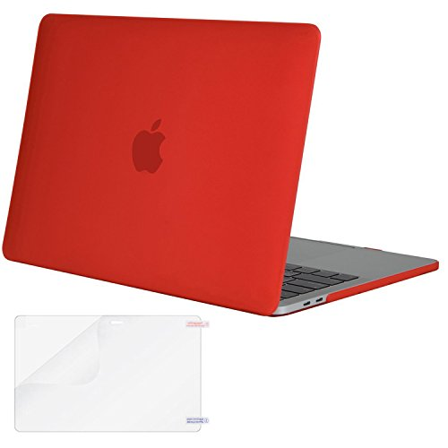 MOSISO MacBook Pro 13 inch Case 2020 2019 2018 2017 2016 Release A2289 A2251 A2159 A1989 A1706 A1708, Plastic Hard Shell Case Cover&Screen Protector Compatible with MacBook Pro 13 inch, Red