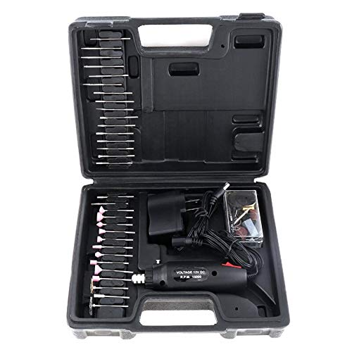 ABST19906 Abrasive 60Pcs/Set 110 / 220V Mini Rechargeable Electric Grinder With Various Wheelhead And Steel Wire Brush for Polishing Us Plu - (Type: for Black)