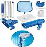 Aspirapolvere per Piscina, Pool Cleaning Kit Piscina Vacuum Jet Pulite Heads Strumenti di manutenzione con rete di pulizia per piscina Spa Stagno Fontana