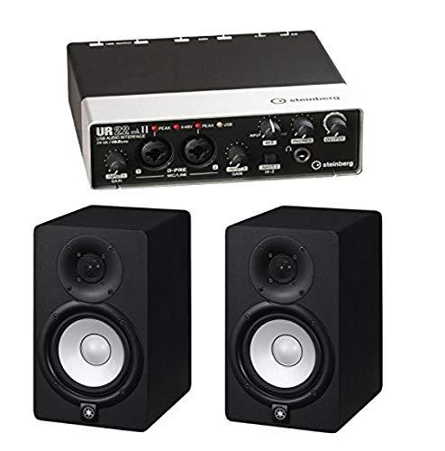 Steinberg UR22MKII 2-Channel USB Interface with 2 Yamaha HS5 Studio Monitors (Black)