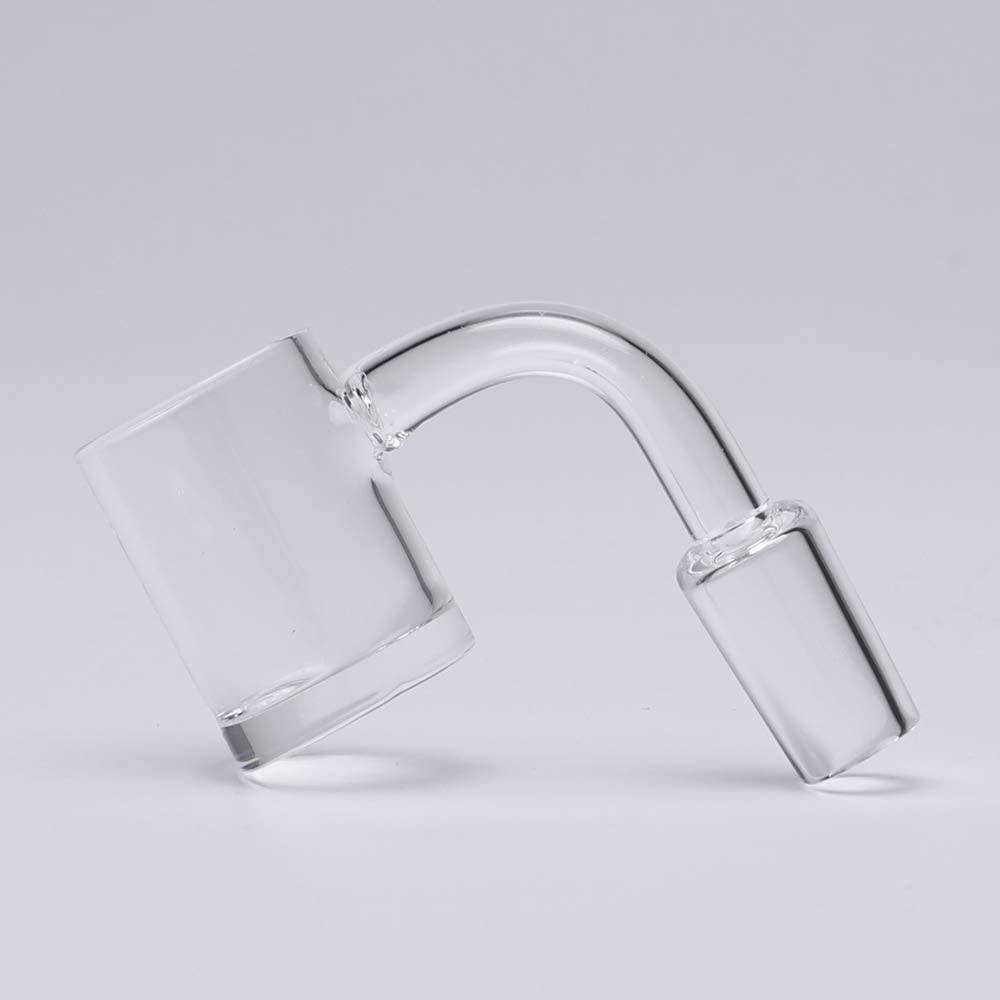 2 Pcs 90 Degree 4mm Wall Thickness Bottom Quartz Accessory Device 18 Male