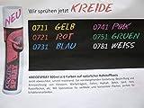 1 Flasche Sprühkreide, 400 ml, zur vorübergehenden Gestaltung, Beschriftung, Markierung, uvm. FARBE NACH WAHL (weiß)