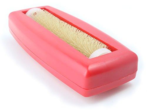 Crumpy Krümelbürste, Krümelroller Tischroller Tischbesen Teppichbürste Tischkehrer Handstaubsauger Tischdecken Bürste Auto Caravan staubsauger Rapido Rot