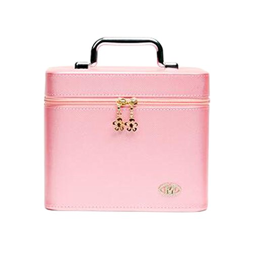 Boîte cosmétique professionnelle élégante Maquillage Sacs à maquillage de grande capacité Rose