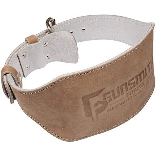 Gunsmith Fitness Shibusa 100% Echtleder Gewichtheber-GÜRTEL Gewichtheben Powerlifting & Bodybuilding für Fortgeschrittene Premium-Qualität individuell handgefertigt - 6 Inch 15,24 cm (M)