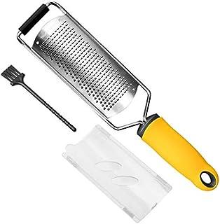 Citrus Zester & Cheese Grater, Lemon Zester with Razor-Sharp Blade & Ergonomic Soft Handle, Shredder for Cheese, Lemon, Gi...