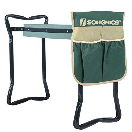 SONGMICS Garden Kneeler Seat, with Upgraded Thicken Kneeling Pad...