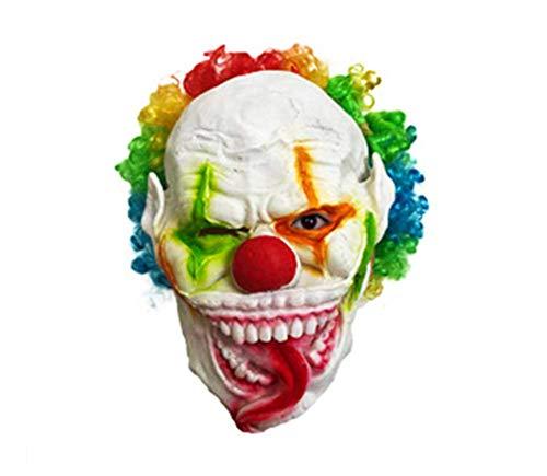 MIANJU Estéreo Payaso Máscara del Partido De Silicona Má