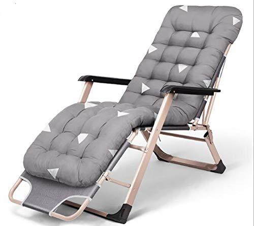 Sdraio Imbottita Outdoor Sun Lounger Cuscino Patio Mobili da Giardino Spessa Imbottita Letto reclinabile Sedia Relax Sedia a Dondolo Cuscino Cuscino