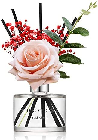 Cocod or Rose Flower Reed Diffuser Black Cherry 6 7oz 200ml 1 Pack Valentine Day Gift Reed Diffuser product image