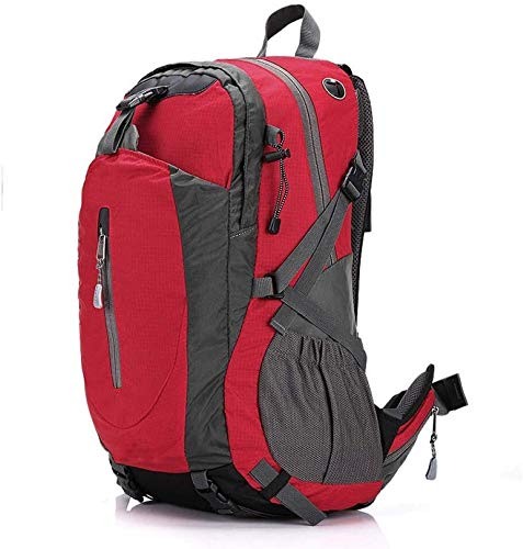 tgbnh Backpack,Hiking Backpack Hiking Daypack Backpack Unisex Camping Mountaineering Walking Outdoor Travel Backpack Backpack,40L (Color : Red)