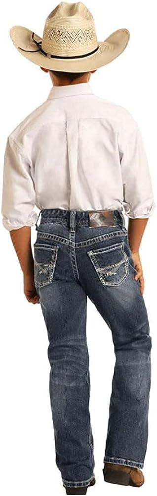Panhandle Boys BB Gun Reflex Stretch Denim Jeans Dark Wash (8) Blue