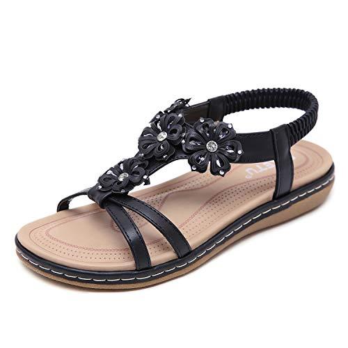 ZAPZEAL Sandales Femmes Plates Mode Chaussures Talon...