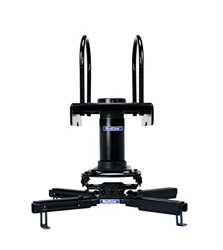 QualGear Pro-AV QG-KIT-TA-3IN-B Projector Mount Kit Accessory with A Truss Ceiling Adapter, 3' 1.5', Black