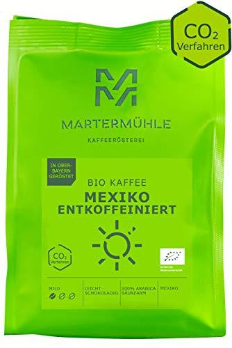Martermühle Bio Kaffee Mexiko entkoffeiniert I Kaffee gemahlen I Kaffeepulver I Kaffeebohnen gemahlen I Kaffee aus Mexiko I Schonend geröstet I Filterkaffee säurearm I 100% Arabica I 250g