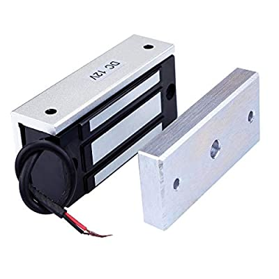 AUTENS Electric Magnetic Door Lock 12V 60kg Mini DC EM Locks Holding Force Electromagnetic for Door Entry Access Control