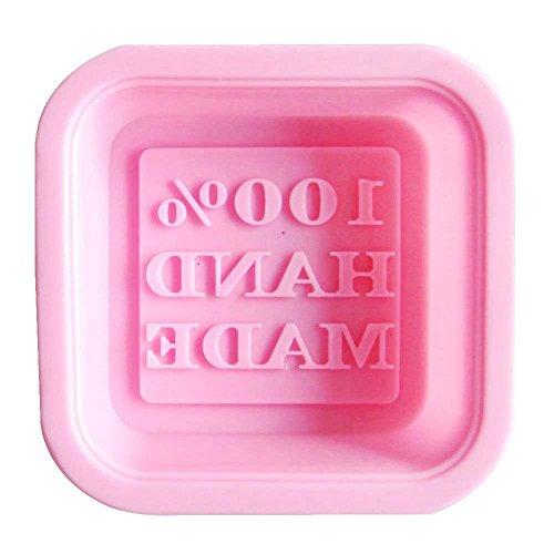 Savon moule - SODIAL(R) Carre Moule a Gateau/Moule de Savon en Silicone avec le Motif de 100% Hand Made, Couleur Aleatoire