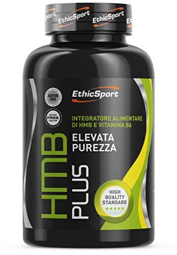 EthicSport - HMB Plus - Barattolo da 120 cpr x 1300 mg - Integratore alimentare di HMB e Vitamina B6