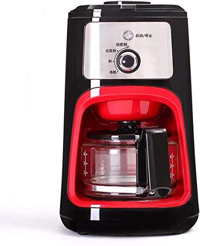 Coffee machine Máquina de café a la máquina de café de la taza, máquina de café de filtro de 600 ml con amoladora de café y jarra de vidrio Filtro reutilizable permanente Sistema anti-goteo, 900W
