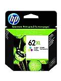 HP 62XL C2P07AE, Tricolor, Cartucho de Tinta de Alta Capacidad Original, compatible con impresoras de inyección de tinta HP ENVY 5540, 5640, 7640;OfficeJet 200, 250, 5740