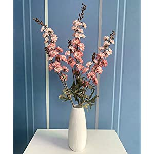 Artificial Cherry Blossom Branches Flowers Stems Silk Tall Fake Flower Arrangements for Home Wedding Decoration,33 Inch