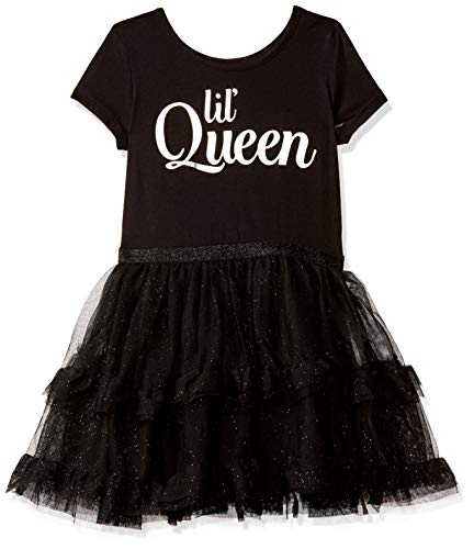 The Children's Place Baby Girls Casual Printed Novelty Dress, Black, 6-9MONTHS