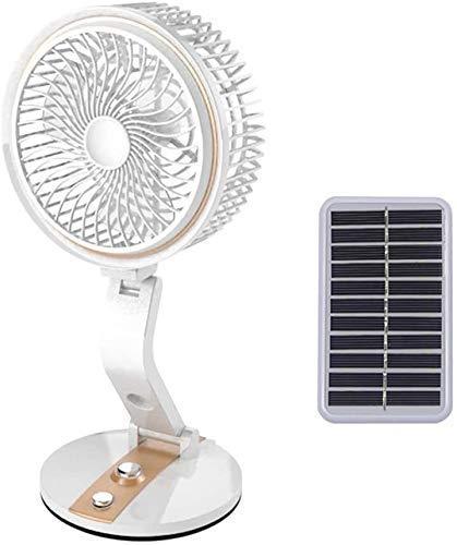 Ventilatore Elettrico da scrivania Ventilatore oscillante Ventilatori da Parete Pieghevoli Pannelli solari/USB Ricarica Ventilatore Portatile per condizionatore d'Aria Mini umidificatore Personale