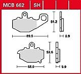 Pastiglie freno TRW organiche Allround ER-6N ABS ER650CD 09-11 posteriori.