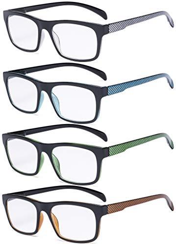 Eyekepper 4er Pack Lesebrille - Muster Design Damen Herren Lesebrille +0.50
