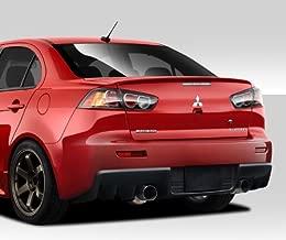 Brightt Duraflex ED-LZV-480 Evo X V2 Rear Bumper Cover - 1 Piece Body Kit - Compatible With Lancer 2008-2017