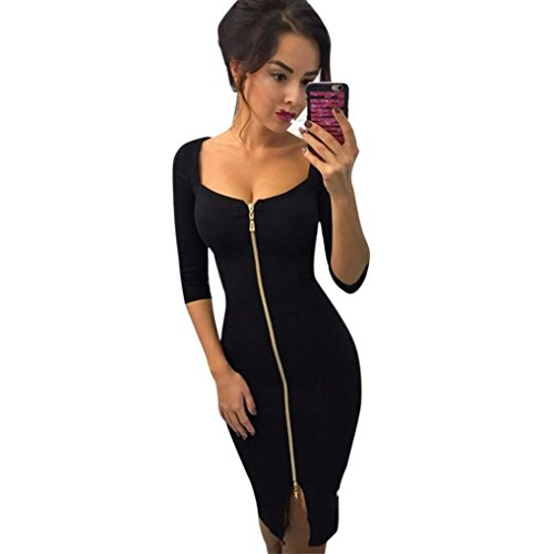Cheapest Prices! Minisoya Elegant Women Wear to Work Dress Zipper Business Office Formal Evening Par...