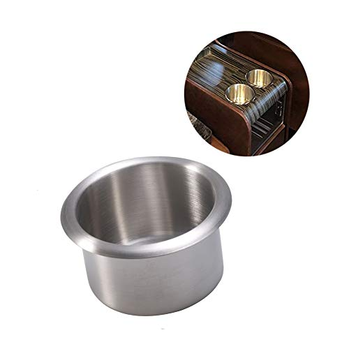 Kyien 1 Piece 304 Stainless Steel Sofa Poker Table Drop in Cup Holder (A Style)