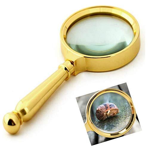 Winnes Handhållet förstoringsglas, förstoringsglas 10 gånger HD optiskt glas förstoringsspegel för läsning och kontrollstämpel diamantsmycke