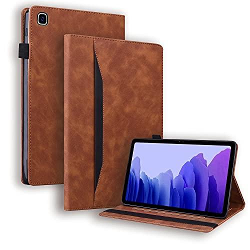 Auslbin Hülle für Galaxy Tab A7 10.4 Zoll 2020,Hülle Mit Zwei Kartentaschen,Eingebaute 2 Anti-Rutsch-Ständer,Auto Schlaf/Aufwach,Schutzhülle für Samsung Tab A7 10.4 SM-T500/T505/T507 - Braun
