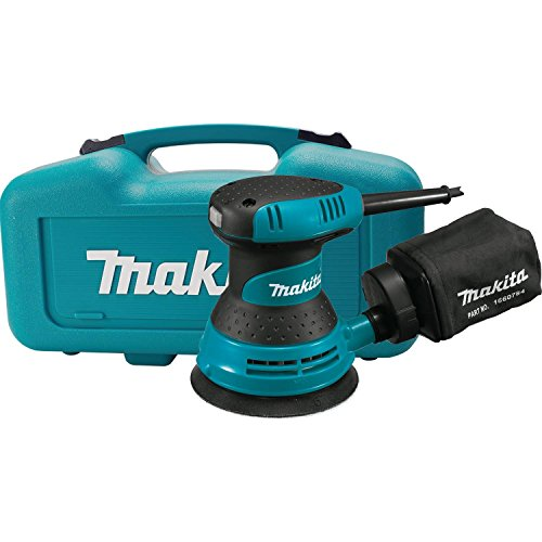 "Makita BO5030K 5"" Random Orbit Sander, with Tool Case, Teal"