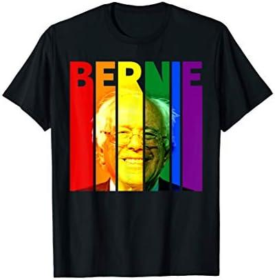 Bernie Sanders Gay LGBTQ Rainbow Vintage Democrat Voter Gift T Shirt product image