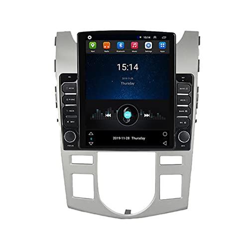 ADMLZQQ Doble DIN Android 9.7' Vertical Stereo Coche con 2.5D Screen,Autoradio Estéreo Coche Soporte Mirror-Link Mandos De Volante Cámara Trasera FM Am WiFi GPS DSP,para KIA Cerato 2008-2013,A,TS100