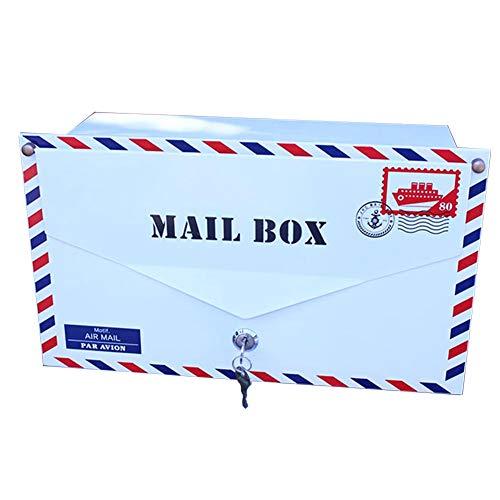 Iyom post doos post dozen envelop stijl brievenbus brievenbus brievenbus decoratieve brief krant doos melk doos afsluitbaar weerbestendig buiten brievenbus