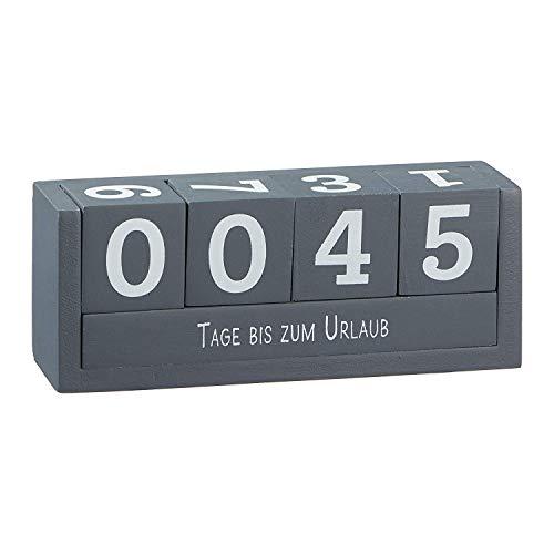 Cepewa Würfel-Kalender - Würfel-Countdown 18x7 cm - 4 Würfel mit Ziffern & 2 Themenleisten mit 8 Sprüchen - Ideale Geschenkidee für Freunde, Familie & Verwandte -